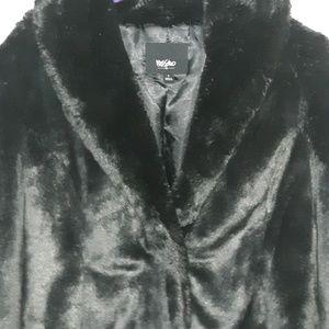 Mossimo Black Faux Fur Coat